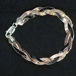 unbranded Jewelry - Sterling silver braided bracelet multicolor
